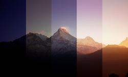 Night to day. Nepal high-altitude sunrise timelapse
