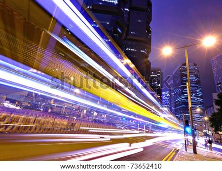 night traffic in city #73652410