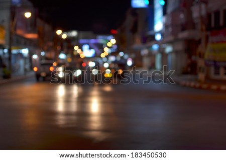 Night traffic , Night street
