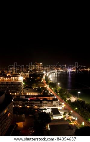 Night view at Pattaya city, Thailand
