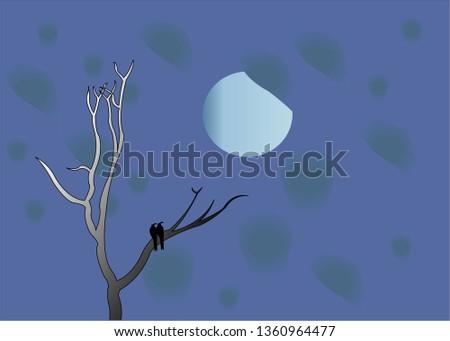 Night view illustration  #1360964477