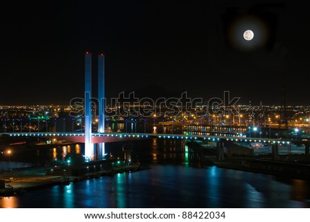 Night View in Dockland Melbourne Australia