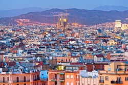 Night View of Barcellona from Montjuic,