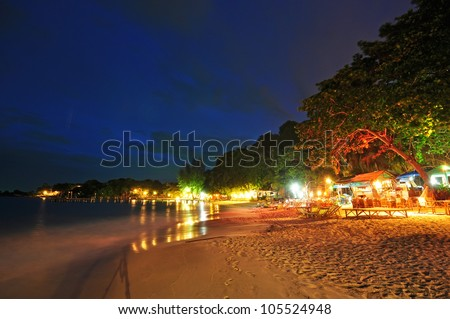 night view of beach At Koh Samet Thailand