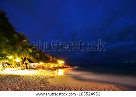 night view of beach At Koh Samet Thailand