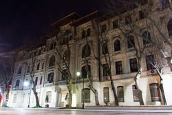 Night view of beautiful historic house in Istanbul. Turkey