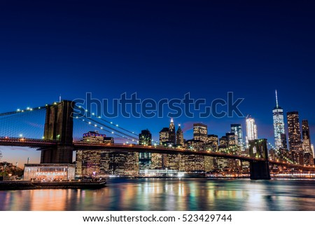 night view of brooklyn bridge...