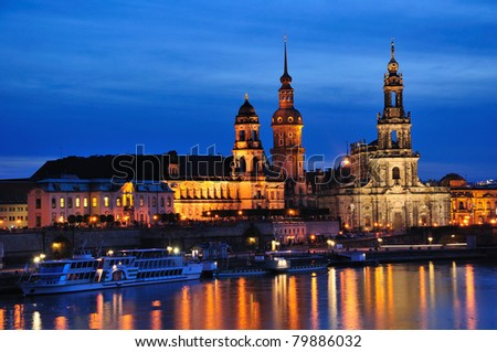 Night view of Dresden, Germany