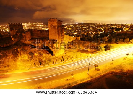 Night view of Fez El Bali, Morocco, Africa