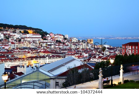 Night view of Lisbon, Portugal
