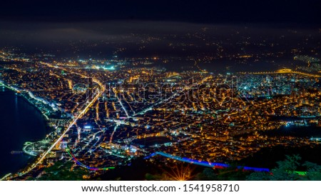 Night view of Ordu province from Boztepe Stok fotoğraf ©