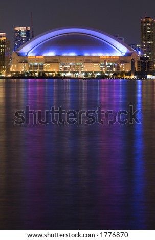 night view of Rogers Center