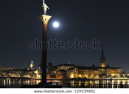 Night view of Stockholm old town