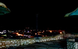 Night view of the city of Gibara, Holguin Province, from the Caneyes hill.