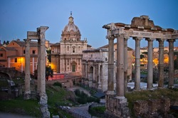 Night view of the Forum Romanum - Rome