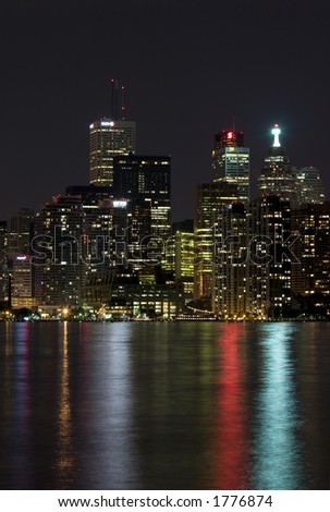 night view of toronto