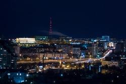 Night view of Ufa, Bashkortostan, Russia