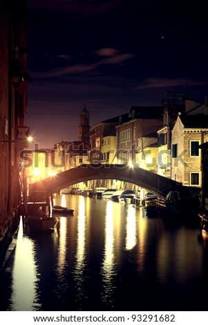 Night view of Venice