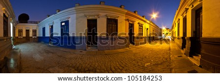 Night vision of Barranco town, Lima, Peru