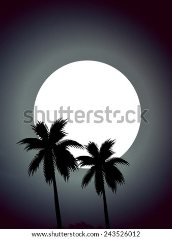 night wallpaper with the full moon