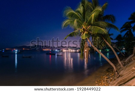Night without fishing village. Photo by Manh Hieu Foto stock ©