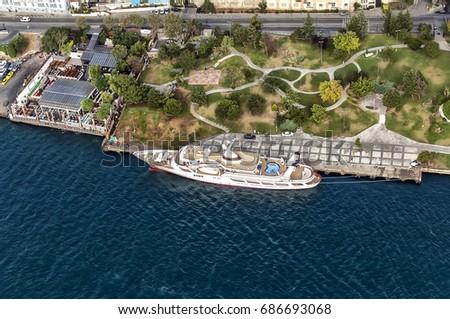 nightclub and yacht Istanbul, Turkey Stok fotoğraf ©