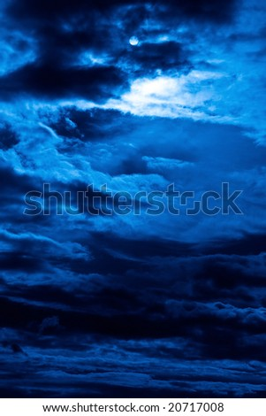 Nightly abstract picture cloudy sky
