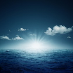Nightly ocean.  natural backgrounds