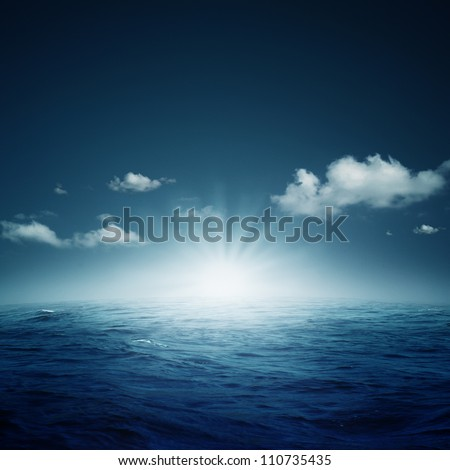 Nightly ocean.  natural backgrounds #110735435