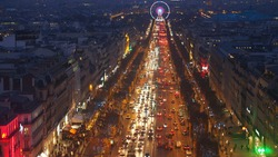 nighttime Champs-Élysées paris france Christmas