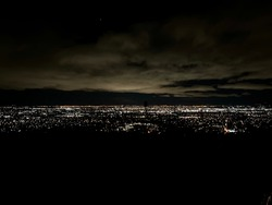 Nighttime landscape shot of San Jose California shot from Sierra Rd.