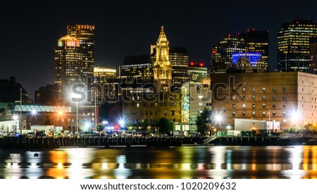 Nightview of the waterfront of Boston, Massachusetts #1020209632