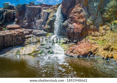 Nigretta Falls crushing on colorful rocks in Bochara, Victoria, Australia Stock photo ©