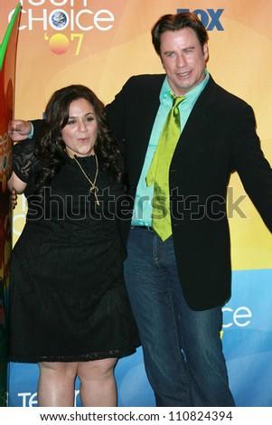 Nikki Blonsky and John Travolta in the press room of the 2007 Teen Choice Awards. Gibson Amphitheater, Universal City, CA. 08-26-07