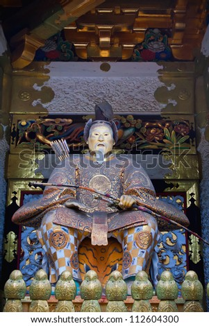 NIKKO, JAPAN - MARCH 24: The statue of Tokugawa Ieyasu, founder of the Tokugawa shogunate, which ruled Japan for over 250 years until 1868 on March 24, 2012 in Nikko, Japan.