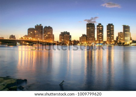 Nile River Night View, Cairo, Egypt #1009799620