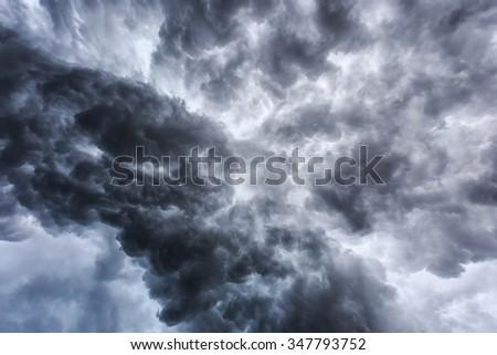 nimbus before rain storm weather background