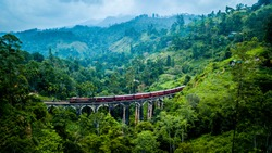 Nine Arches Bridge from above, Sri Lanka