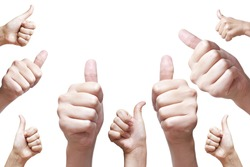 nine hand thumbs up