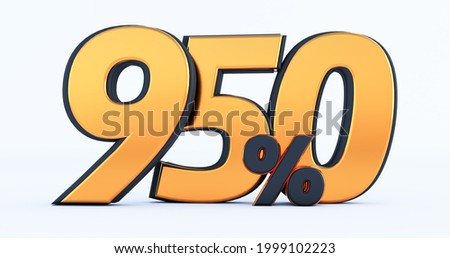 nine hundred fifty 950% off on sale. Gold percent isolated on white background. 3d render of a Gold nine hundred fifty percent Foto stock ©