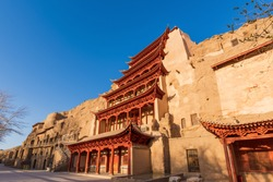 Nine-storey Building of Mogao Grottoes in Dunhuang