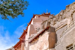 Nine-storey Building of Mogao Grottoes UNESCO World Culture Heritage in Dunhuang,China