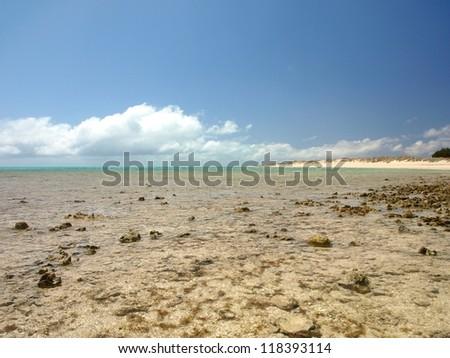 Ningaloo Reef at low tide, Western Australia
