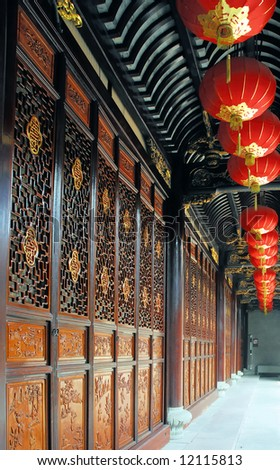 Ningbo the oldest China library  (Tianyi Ge) door