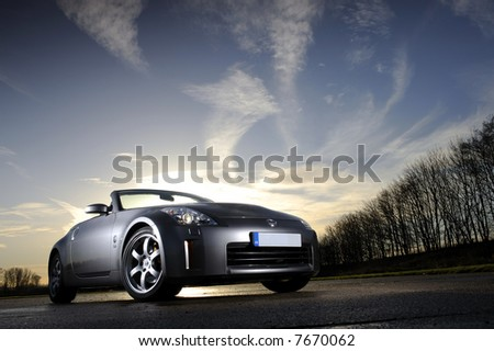 Nissan 350Z with creative lighting