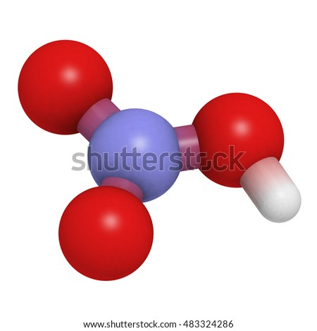 Nitric Acid Hno3 Strong Mineral Acid Molecule Used In Production