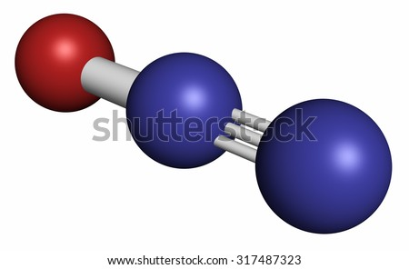 nitrous oxide nos laughing gas n2o molecule used in. Black Bedroom Furniture Sets. Home Design Ideas