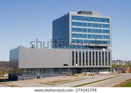 NIZHNY NOVGOROD, RUSSIA - MAY 7: New modern office building in the Technology Park on May 7, 2015 in Nizhny Novgorod.
