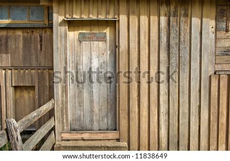 no admittance in this old wooden door