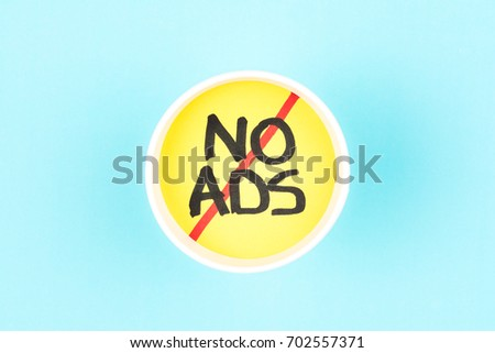 No ads symbol. Ads free sign. #702557371